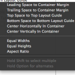 Constraint setup with Container Margins.
